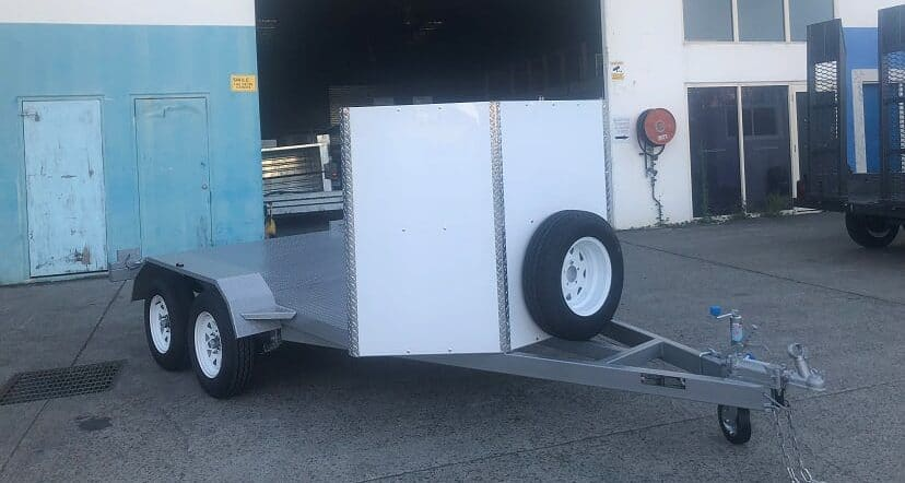 Front covered race car trailer